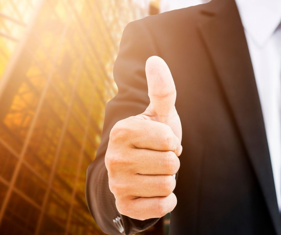 Bookkeeper thumbs up